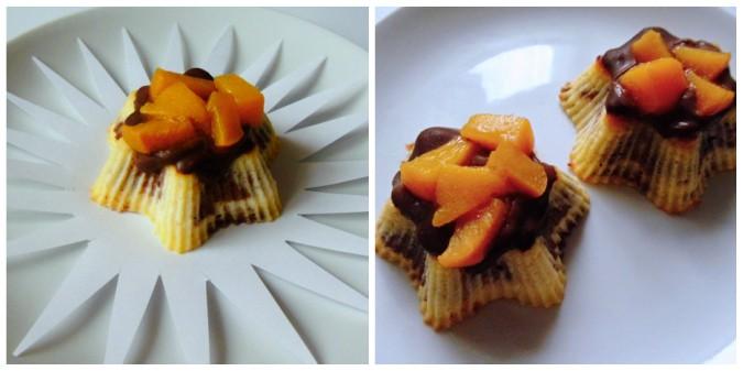 trarohové dortíky s čokoládou a ovocem
