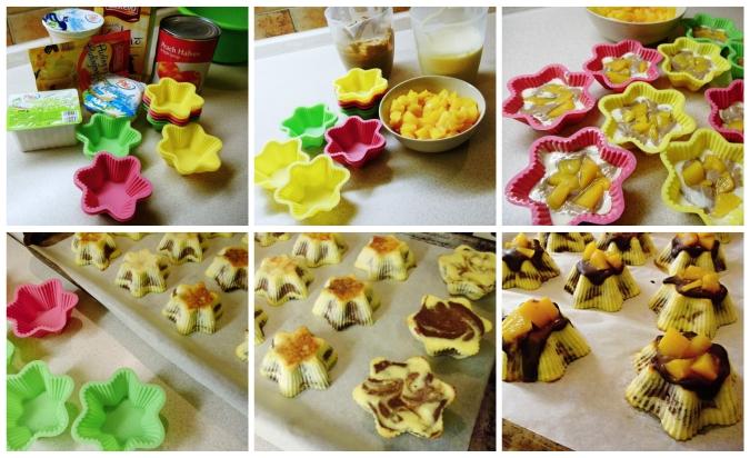 tvarohové dortíky s čokoládou a ovocem - zobrazen postup , 6 obrázků