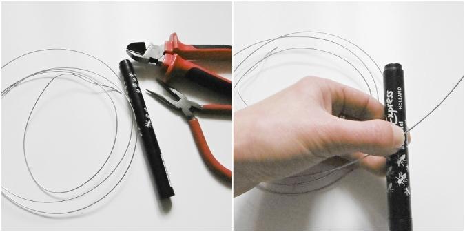 jak vyrobit,navod, tutorial, nausnice, DIY,drat