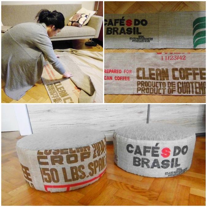 DIY,kava, pytel, kavovy,posezeni,sedaky, povlak
