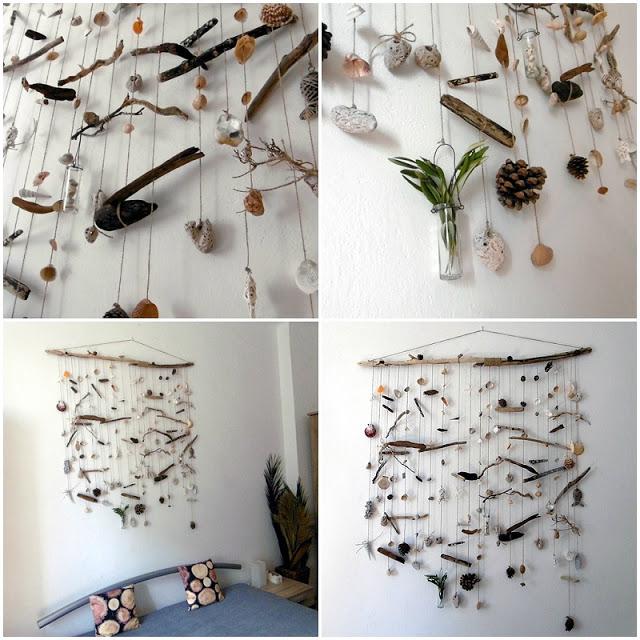 DIY, primorsky, morsky, zaves, dekorace, musle, kameny