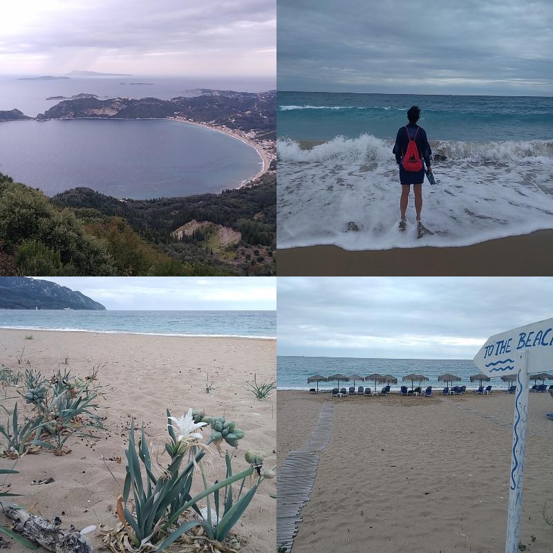 Agios Georgios, pláž, moře, vlny, Řecko