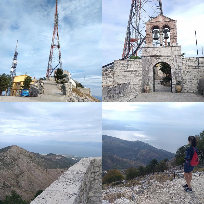Corfu, klášter, Pantokrator,auto, výhled, cestování, nejvyšší, vrchol