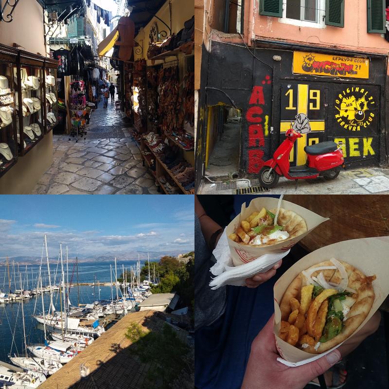Korfu, Řecko, co navštívit, místa,dovolená, low, cost,Kerkyra, Corfu, hlavní, město