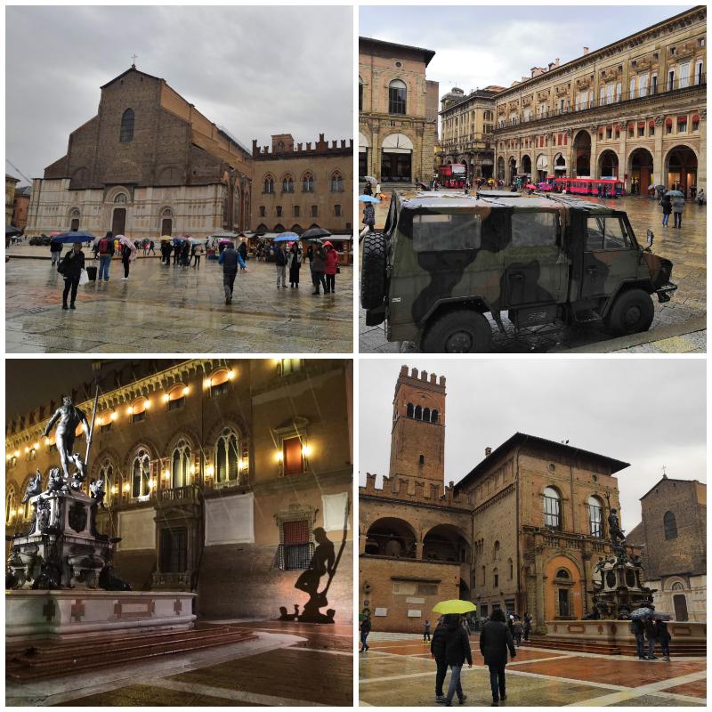 Piazza Maggiore, san Petronio,Bologna, Piazza del Nettuno