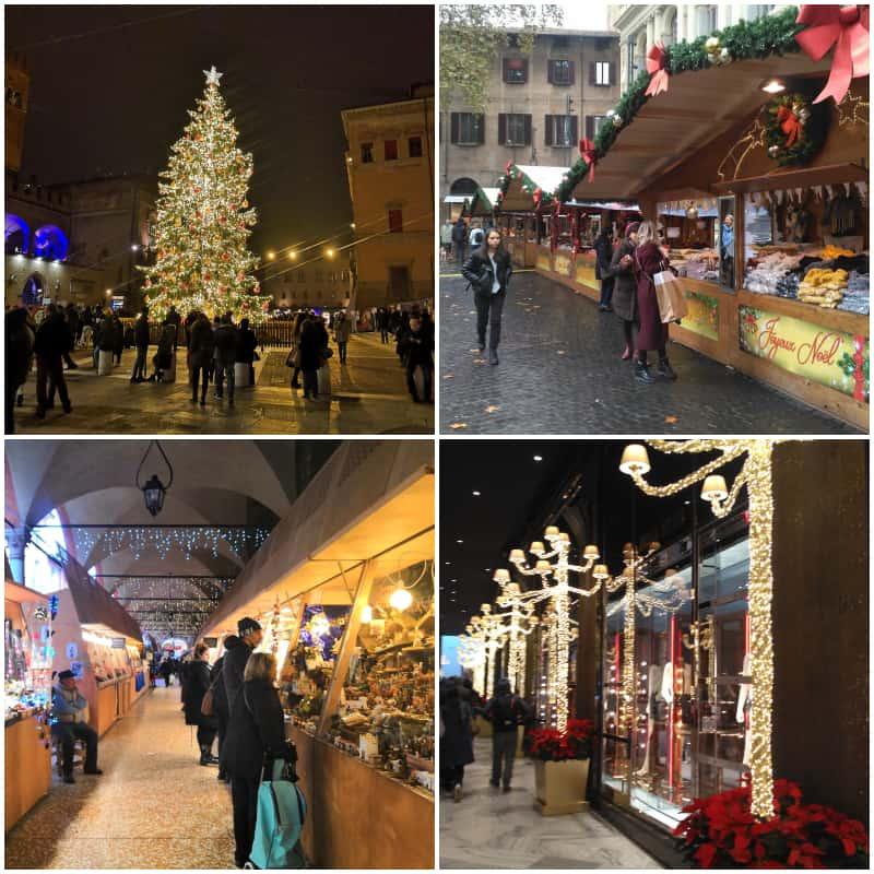 vánoční, vánoce, trhy, strom, bologna, cestování, výlet, itálie, tipy